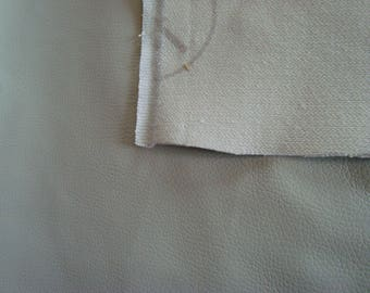 Large textured faux leather color PuTTY fabric coupon