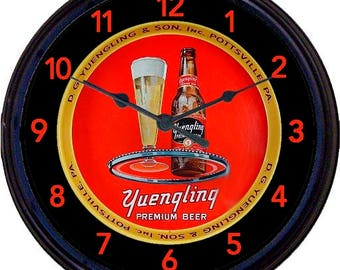 Beer,Yuengling, Black Label, Pottsville, PA, Beer Tray, Bar Decor, Wall Clock, DG Yeungling, Pennsylvania, Man Cave, New 10""
