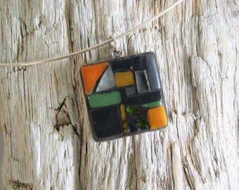 """""""Northern"""" square mosaic necklace"""