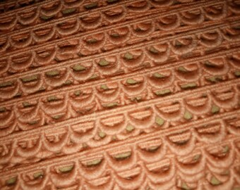 1 meter of trim CROQUET half circle salmon Orange 10 mm width