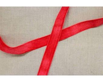 Ribbon - 25 mm - red velvet