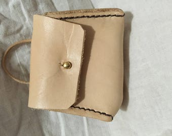 Leather wallet mini purse