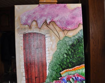 """""""Country house"""" painting on canvas"""