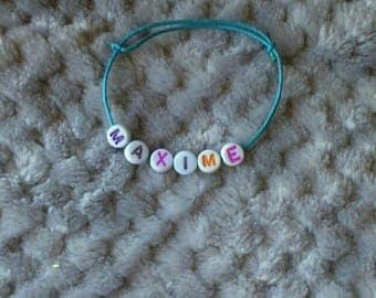 "Bracelet simple ""Maxim"" blue cord"