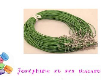 1 necklace 46 cm faux leather