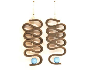 Inner tube recycled earrings