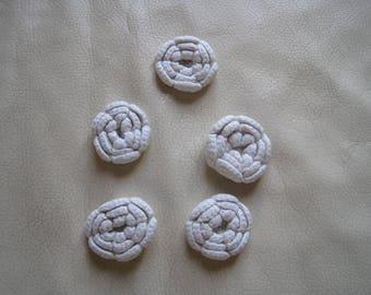 Embellishments, flower, crochet set