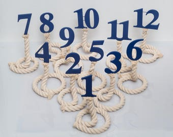 Nautical Rope Wedding Table Numbers