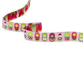 Russian dolls theme multicolor 16mm - SC60103 - woven Ribbon