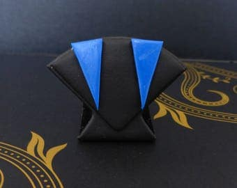 Electric blue triangle - graphic Collection Stud Earrings