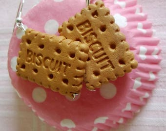 Biscuits Fimo earrings