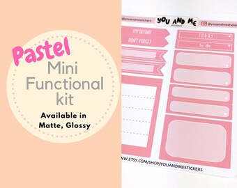 Pastel Stickers | Planner Stickers | Functional Stickers | Weekly Kit | Erin Condren | Happy Planner | BS38