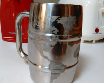 Stainless Steel Etched Mug