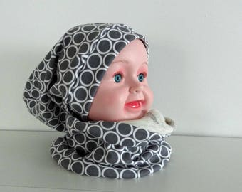 Loose and snood 18/24 months baby Hat set