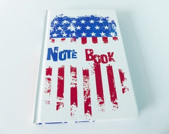 notebook note book American flag United States America 10.5 x 15.5 cm