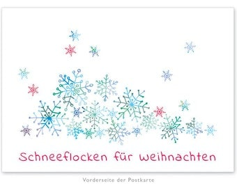 Christmas card: Snowflakes with text