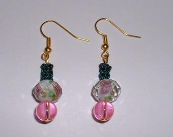 Pink PASSION earrings for pierced ears