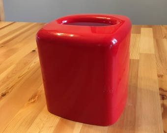 Vintage retro red tissue box cover from 1981! Andre Richard Co.