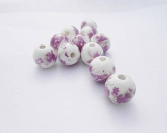 Pearl 12 mm floral pattern
