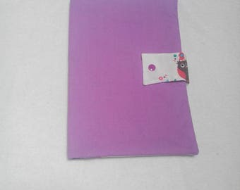 Pocket diapers and wipes purple owls