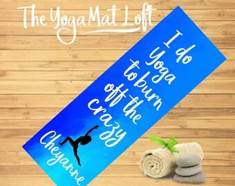 Printed Yoga Mat, Personalized Yoga Mat, Custom Pilates Mat, Personalized Exercise Mat, Custom Yoga Mat, Yoga Lover Gift, Birthday Gift