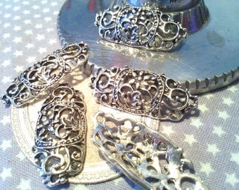 X 5 links bracelets Tibetan silver 32 mm X 14 mm X 4 mm
