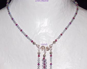 WEDDING. ADORNMENT NECKLACE SWAROVSKI CRYSTAL BRACELET AND EARRINGS