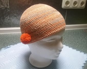 Summer Hat / summer-Beanie CHARLSTEN with lateral Bobble