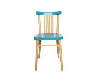 Scandinavian style Chair wood and turquoise Hilda