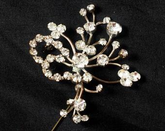 Clear Dazzling Austrian Rhinestone Crystal Brooch Pin
