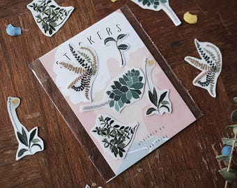 Growing In The Garden - Transparent Sticker Set