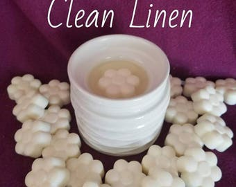Clean Linen Scent - Soy Wax Melt - Hand Poured -Handmade - 6 Pack