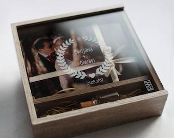 USB & Print Box, wedding box, unique presentation, Unique client presentation, wedding photo packaging