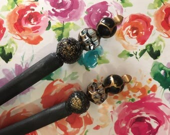 Black Gold Hairstick