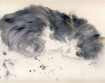 Cat - Figurative watercolor