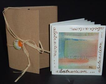 "Artist's book - ""Abstraction"" - signed original artwork"