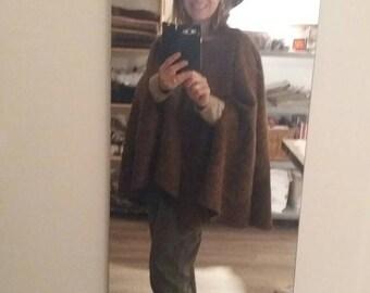 Brown faux fur Cape