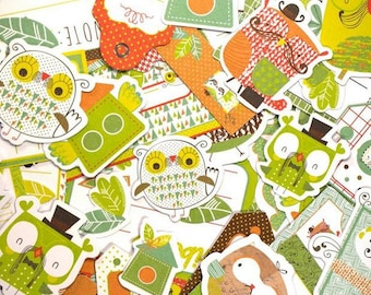 Embellishments - Die cuts owls - from 3 to 11 cm - 57 pcs - Toga - new
