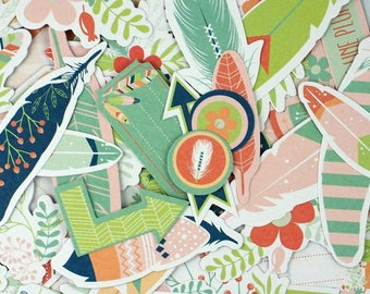 Die cut - embellishments - various shapes - 54 pcs Toga brand - new