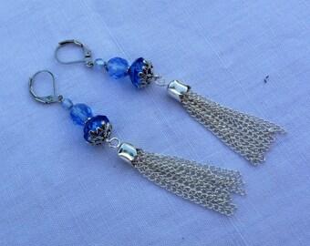 Blue Pearl Earrings.