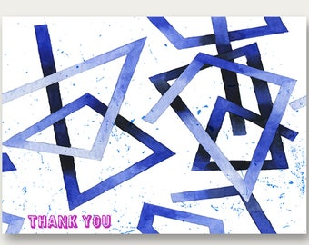 Geometric Thank You Note Card | Instant Download & Print