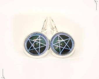 Wicca Pentagram Pentacle earrings