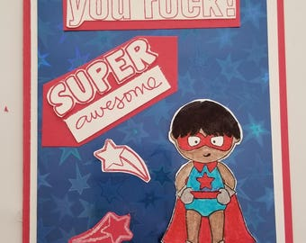 Superhero Encouragement Card,
