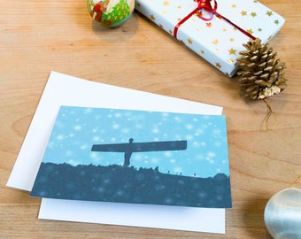 Angel Of The North Christmas Card