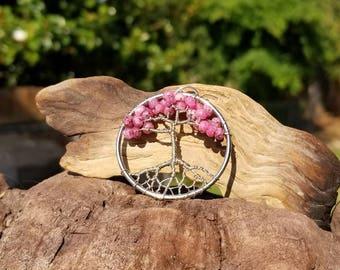 Pink Jasper Tree of Life