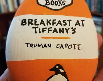 Penguin Classics - Breakfast at Tiffany's by Truman Capote - Classic Book Cover Stone Painting - Literatures Rocks!