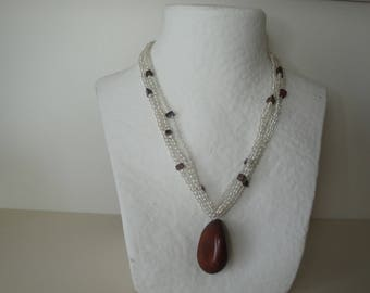 Exotic Brown Tagua seed necklace