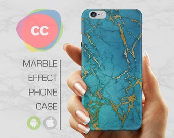 Green Gold Marble - iPhone 8 Case - iPhone 7 Case - iPhone X, iPhone 8 Plus, 7, 6, 6S, 5S, SE Cases - Samsung S8, S7, S6 Cases - PC-337