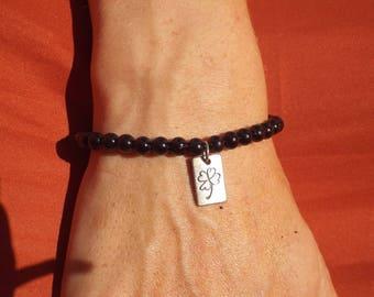 Get Lucky black pearl bracelet