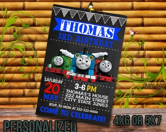 Train, Train Invitation, Thomas Birthday, Thomas Party, Thomas Birthday Invitation, Thomas Printable, Thomas Card